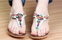 sapatilhas femininas 2014 WOMEN sandalias rasteiras bohemian beaded chinelos sapatos sandalias shoes women BW7