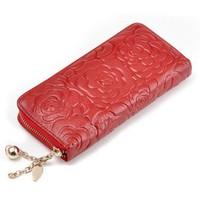 2013 fashion women's wallets high quality 100% genuine leather wallet ladies fashion purse clutch wallets free shipping QB19