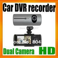 "X3000 Car DVR Recorder Newest Design Dual Lens Car Camera with 2.7""LCD+GPS Logger+3D G-Sensor DropShipping"