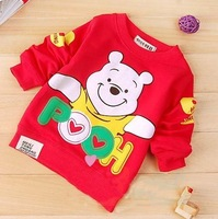 wholesale  Spring Fall baby boy girl unsex  kids cotton wear lovely Cartoon coat active T-Shirts