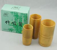 Free Shipping Chinese cupping Huanqiu Traditional Bamboo Cupping Set - 3 Bamboo Cupping Jars