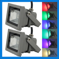 10X  exterior LED 10W RGB waterproof IP65 landscapeing garden decorative floodlighting wall lights with remote control