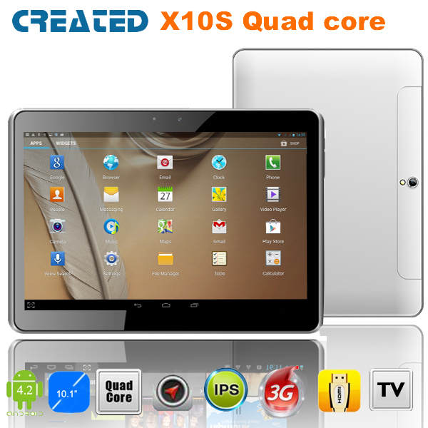 Creato x10s 10 pollici quad core tablet pc androide 4.2 1gb ram 8gb fotocamera 5m pc hdmi integrata- in 3g dual slot sim wifi bluetooth