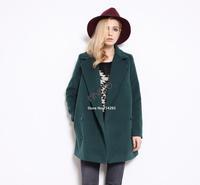 New 2014 Winter coat fashion women's slim wool blended Long Sleeve coat winter coat women woollen overcoat B3 SV007242
