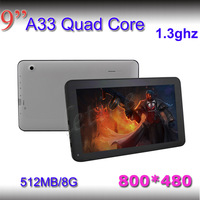 dual camera!! 9 inch 512MB/8GB Flash Wifi capacitive screen android 4.0 tablet pcs