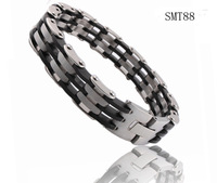 titanium steel Chain Stainless Steel men's charm bracelets bangles man bracelet silicone design for men Jewelry free shipping