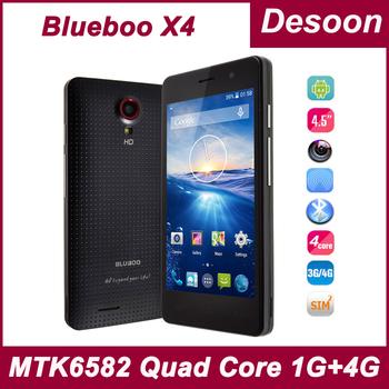 "Original BLUBOO X4 Smart Phone 4G LTE 4.5""IPS Screen MTK6582 Quad Core 1GB RAM Android Kitkat 4.4 8.0MP Camera WCDMA 3G/Koccis"