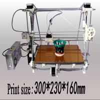 He3D printer 3d The complete assembly  Reprappro mendel 3d Printer kit  single extra large reprap kit  diy