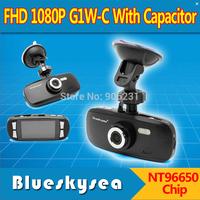 Free Shipping!Blueskysea FHD 1080P G1W-C With Capacitor Car Dash Camera DVR NT96650 Chip AR0330 Lens
