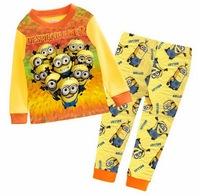 Boy's Cartoon Design Long Sleeves Pyjamas Children's Spring Long Sleepwear Nightwear Suits, 6 Sizes (2T-7T)/lot - GPA346/731/732