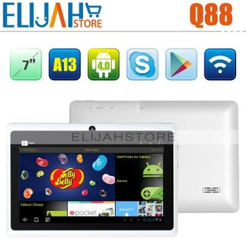 Popular Smart Q88 7 inch tablet pc android 4.0.3 OS 5 point Capacitive Touch  Allwinner A13 512MB/4GB Camera