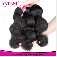 Cheap Peruvian Virgin Hair Body Wave,100% Unprocessed Human Hair,Grade 4A Alixpress Yvonne Hair,12-28 Inches,Natural Color