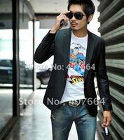 Sale!High Quality!2013NEW XXXL PLUS SIZE New Fashion Stylish Men's Suits, Business Suit, blazer men Black and Grey