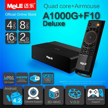 Quad Core Mini PC Android TV Box Android 4.2 MeLE A1000G Quad Cortex A7 2GB RAM 16GB ROM 1080P HDMI WiFi Media Player & MeLE F10