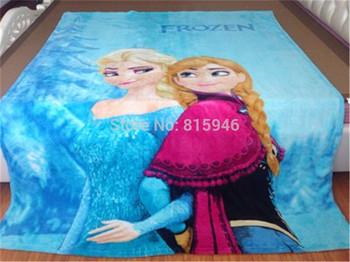2014 new coral fleece blanket warm towelling coverlet single bedding sheet cover fur baby blankets frozen blanket 150X200CM