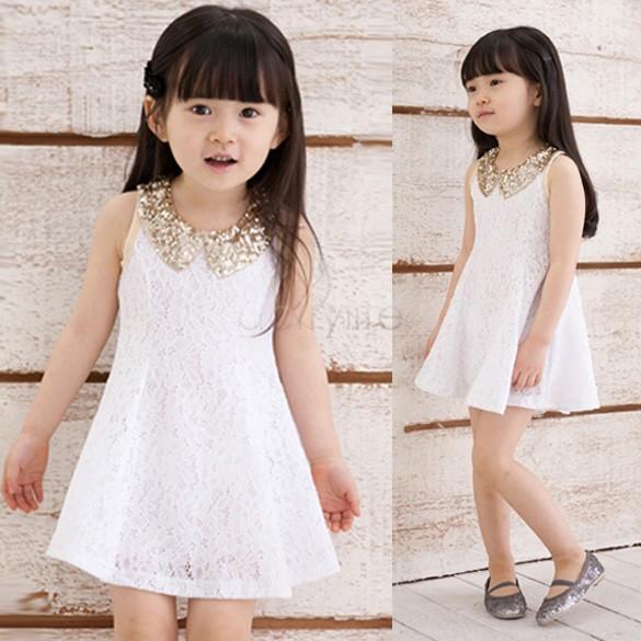 Musim-panas-2014-baru-pakaian-gadis-cantik-anak-bayi-perempuan-payet