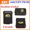 Mini Car GPS Tracker TK102 Global for persons pets 4 bands GSM GPRS Vehicle Tracking Device 900/1800/1900MHZ Real Time Drop ship