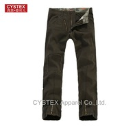 Freeshipping  Fashion Plus Size 100%Cotton Canvas Men's Pants High Quality  Zipper And Patch Street Fashion US Size28-36 #308