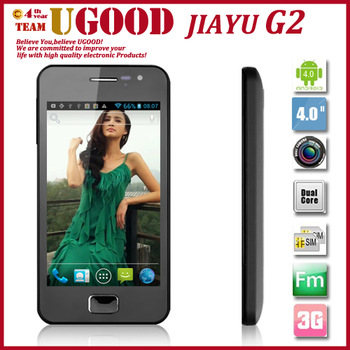 "Hot Selling Dual Core MTK6577 JIAYU G2/JY-G2 Android 4.0 3G Smartphone 1GHz 4.0"" IPS Capacitive Screen 8MP GPS Unlocked Phone"