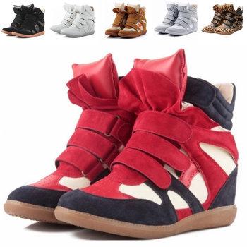 Isabel Marant Натуральная кожа Размер(35~42) 48 Стиль Boots Высота Increasing Sneakers ...