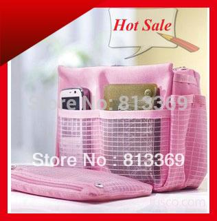 Multifunction Men Women Nylon Organizer Clutch Purse Handbag Collection Organiser MP3 Phone Cosmetic Pen Travel Multi Bags BB151