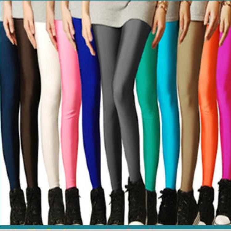sólido 2014 caramelo polainas de neón deporte alto estirada de yoga gimnasio de fitness plus tamaño de ballet baile pantalones 24 colores envío de la gota