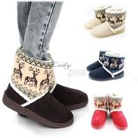 Women's Animal Prints Warm Cotton Thicken Winter Platform Boots Snow Boots Shoes B19 18389