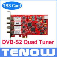 HOT! TBS Card TBS6985 DVB-S2 PCIe Quad Tuner TV Card TV Tuner Receiver, Watch Satellite TV Freesat TV on PC