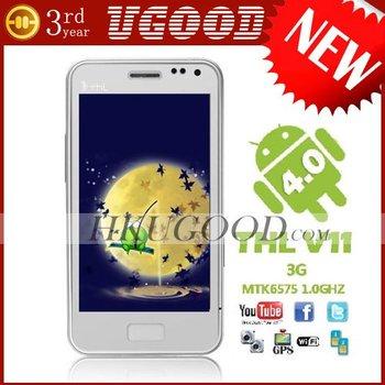 ThL V11 Android 4.0 Phone 4.0 Inch WVGA MTK6575 Dual SIM Card 3G GPS WIFI Unlocked Mobile Phone
