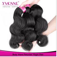 Cheap Peruvian Virgin Hair Body Wave,100% Unprocessed Human Hair,Grade 4A Aliexpress Yvonne Hair,12-28 Inches,Natural Color