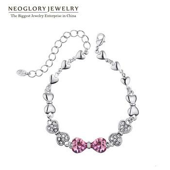 Neoglory Austria Bangles Bracelets for Women Rhinestones Crystal Charm Fashion 2015 New Jewelry Accessories