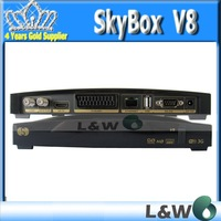 2pcs/lot Satellite Receiver Openbox X5 HD original Full HD PVR, with 2 USB Port support uporn Youtube Gmail Google CCcam