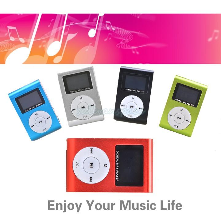 Mini Clip Design Digital LED Light Flash MP3 Music Player With TF Card Slot 5 Colors Optional FM Radio Support 32GB #7 CB027963(China (Mainland))