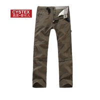 Mens Pants Cargo Pants Men Trousers Brand OutDoor Military Wide Leg High Quality Cotton/Nylon 9 Pockets Size 28-34  3Colors #932