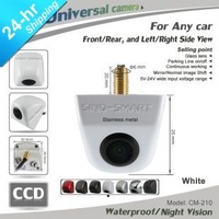 New universal SUV Car truck HD CCD parking front view camera white camera night vision waterproof Stainless Metal