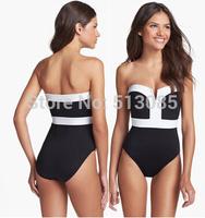 New Womens Tassel Padded Bandeau Swimwear, American Striped Flag Swimsuit, Vintage USA Twisted Tube Bikinis Set, Monikini