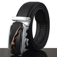 Fashion Genuine leather belts for men Business male Belt Automatic Buckle double faced cowhide belt 4style Cintos cinturon