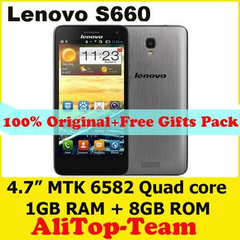 "Original Lenovo S660 Mobile Phones 4.7"" HD Screen MTK6582 Quad Core 1GB RAM 8GB ROM Dual Sim WCDMA 3000mAh Russian Spanish"
