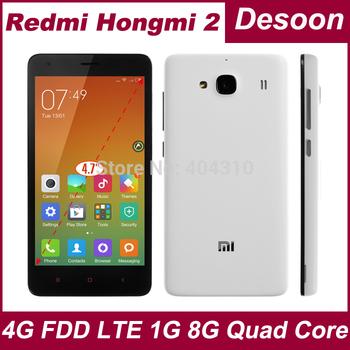 100% Original XIAOMI Redmi 2 Hongmi 1S Hongmi 2 4.7'' Cell Phones 4G LTE MSM8916 QuadCore 1GB RAM 8GB ROM GSM WCDMA/Koccis