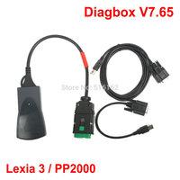 2014 Hot Sale Newest V7.57 Lexia3 Lexia 3 V48 Citroen Peugeot diagnostic tool Lexia-3 PP2000 V25 With New Diagbox Arrival