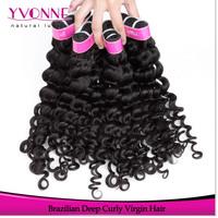 Wholesale Price100% Brazilian Deep Curly Hair,Virgin Human Hair Extension,3Pcs/lot Aliexpress Yvonne Hair,12-28 Inches