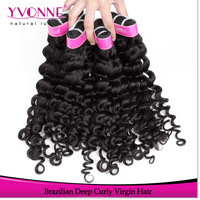 Wholesale Price100% Brazilian Deep Curly Hair,Virgin Human Hair Extension,3Pcs/lot Aliexpress Yvonne Hair,12-28 Inches