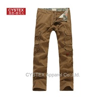 Promotion Freeshipping Mens Cargo Pants Best Quality 100%Cotton On Sale Plus Size CamoFlag Contrast  Vintage US Big Size #320