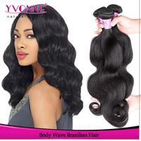 3Pcs/lot Brazilian Hair Extension,Cheap Virgin Hair Body Wave,12-28 Inches Aliexpress Yvonne Hair,Natural Color