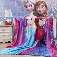 Free shipping Elsa Anna Frozen Blanket Blue Purple Frozen Movie Blanket for Kids Silk Touch Fleece Blanket 150x200cm Wholesale 8