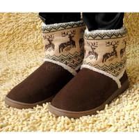 Women's Thicken Animal Prints Warm Cotton Snow Boots Shoes Winter Platform Boots B19 18389