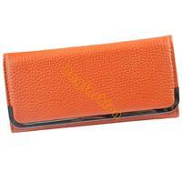 Concise Women's Wallet Leather handbag Hand Bag for ladies Envelope Purse Clutch bags Card Holder Case 5005