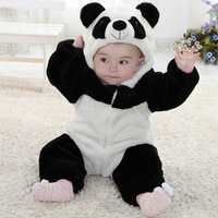 Free Shipping 2013 New Spring/Autumn Animal Panda Unisex Character Cotton Baby Romper, Baby Clothing, Baby Clothes