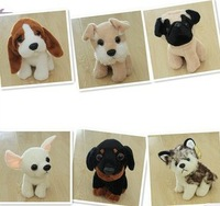 Stuffed & Plush Animals Freeshipping 6 Style Foreign Trade Export Mini Soft Plush Stuffed Dog Toy Wholesale