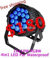 4pcs/lot,Outdoor Waterproof Light 18 pcs x 10W RGBW LED Par Light Stage Concert Party Decoration Wedding Disco DJ Bar KTV